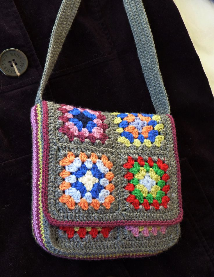 Messenger Bag By Judith L. Swartz - Free Crochet Pattern - (ravelry)