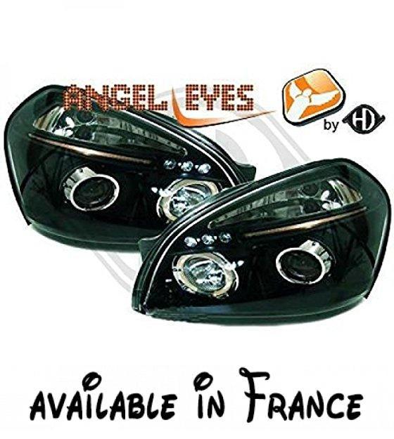 in. pro. 6860380Tête LED Angel Eyes. Tête LED Angel Eyes. Tête Angel Eyes LED transparent/noir Hyundai Tucson 04sur. 1kit #Automotive Parts and Accessories #AUTO_PART