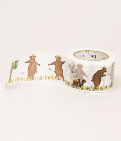 masking tape beren en eekhoorns