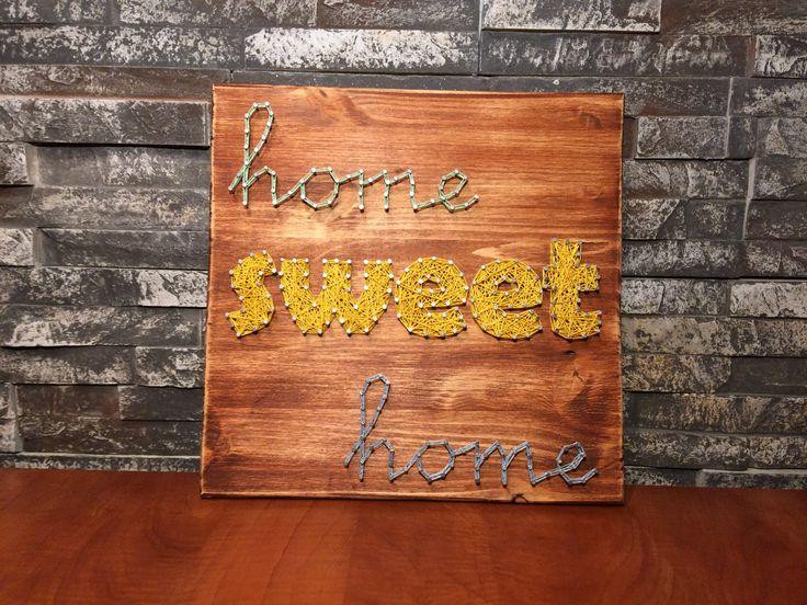 String Art - Home sweet home - DIY