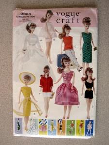 11 5 Barbie Doll Vogue Craft 9834 Vintage Clothes Pattern Uncut | eBay