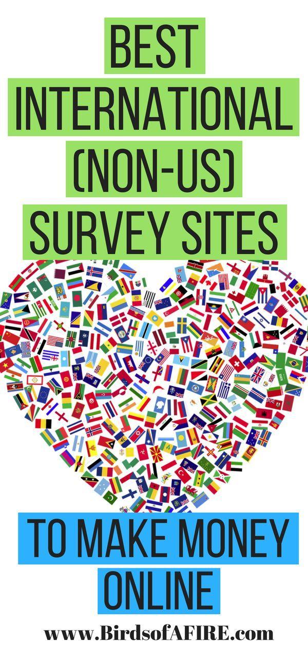 Best International Non Us Survey Sites To Make Money Online Make Money Online Surveys Make Money Online How To Make Money