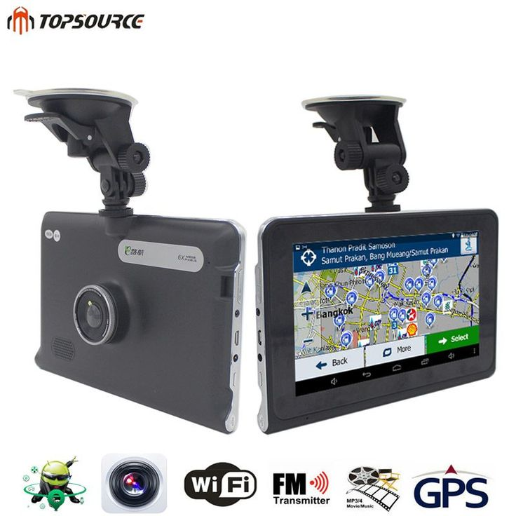 TOPSOURCE 7'' HD Car Android GPS 1080P DVR Navigation Quad-core Sat Nav Truck GPS Navigator Built in 16GB/512M Russia/Europe Map //Price: $94.16//     #onlineshop