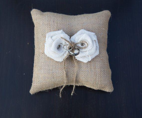 Tela Ring Bearer Pillow cuscino nuziale anello di janes2daughters