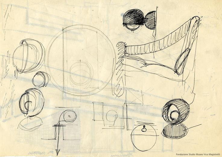 Original sketch of Eclisse by Vico Magistretti (1967) http://www.artemide.us/?page=main/flypage&pageTitle=Eclisse%20photo%202&product_id=1034&layout=features