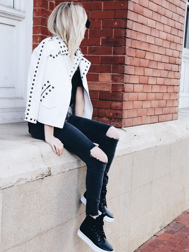 """Morehead recently moved to Dallas, and she spends her weekends exploring the city with her fiancé and her toddler. Her best advice for styling an outfit around boots? """"To accentuate the shoes,..."""
