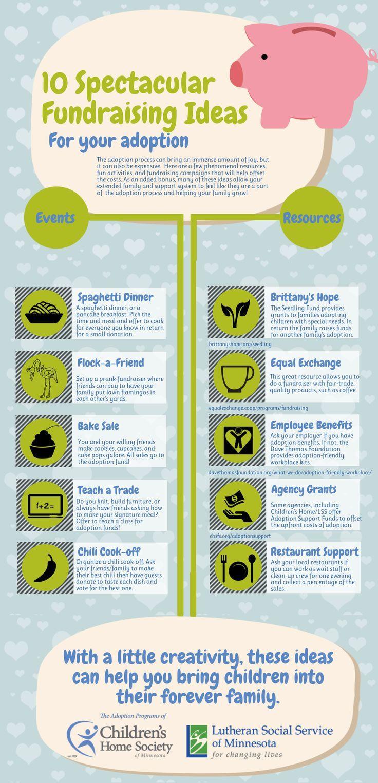 10 Spectacular Adoption Fundraising Ideas Infographic