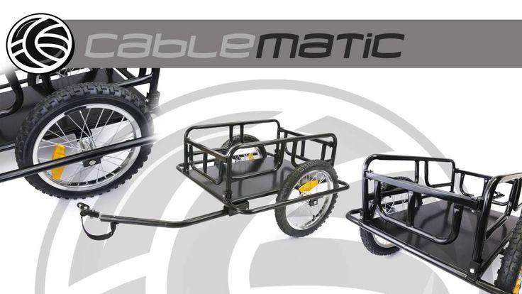 Remolque de bicicleta para carga de 60 Kg plegable distribuido por CABLE...
