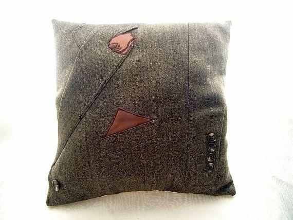 LOVE MY MAN - Tweed Jacket Cushion £35.00