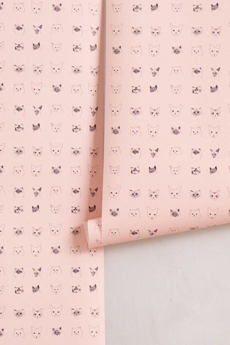Cats Wallpaper @ Anthropologie By Baines U0026 Fricker