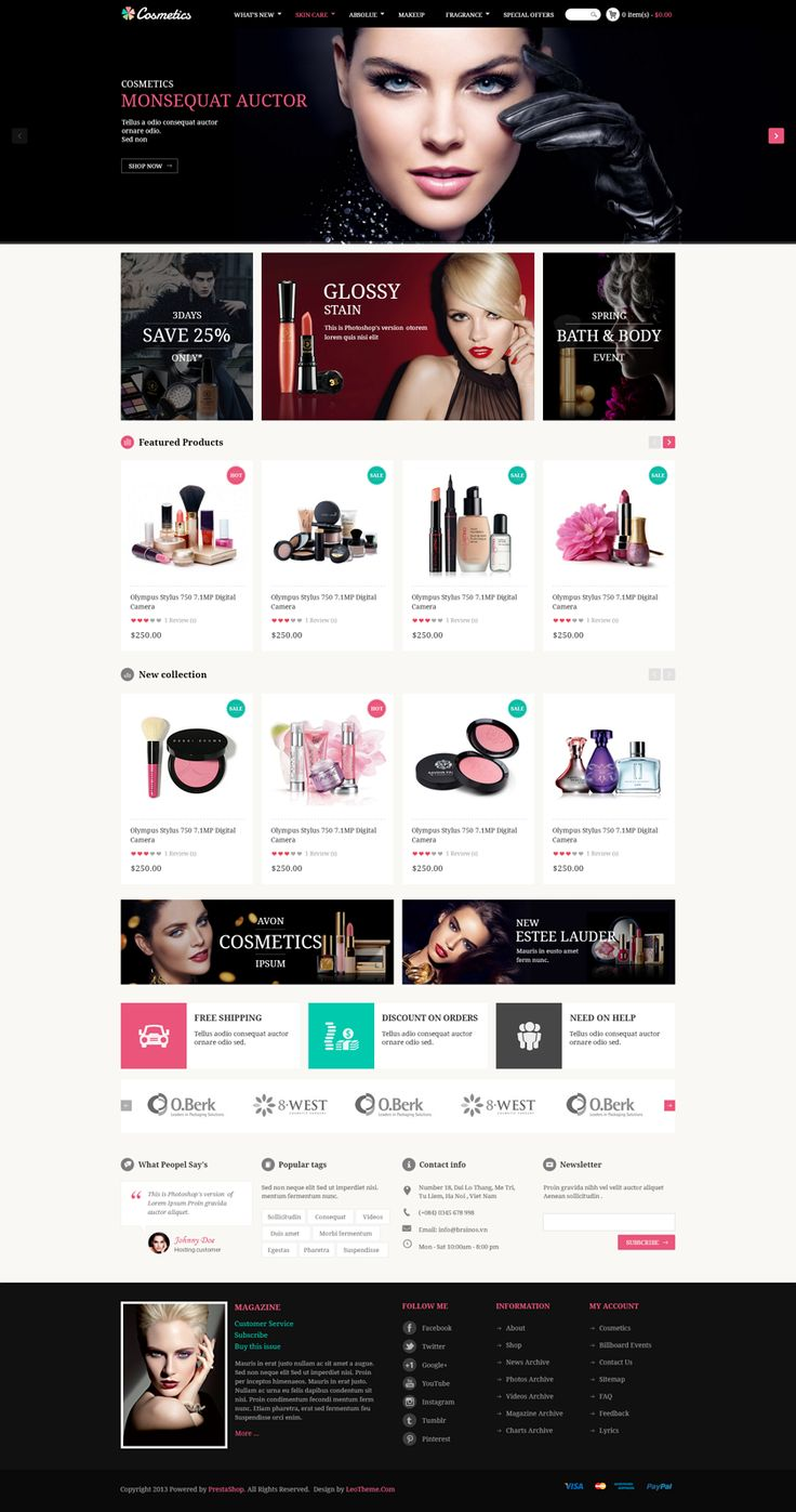 #eCommerce sites about cosmetics and beaulty equipment.