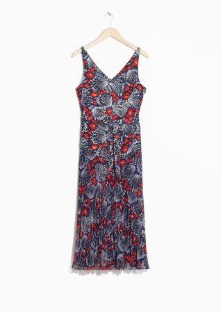 & Other Stories | Pleated Shinjuku Print Dress