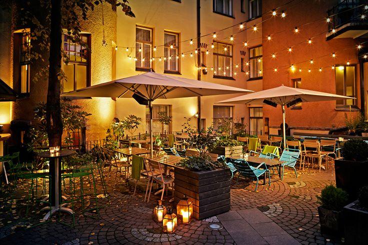 O'Malley's summer terrace in Helsinki, Finland