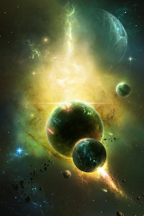 Referencias a imágenes sobre el espacio exterior, planetas, galaxias etc.