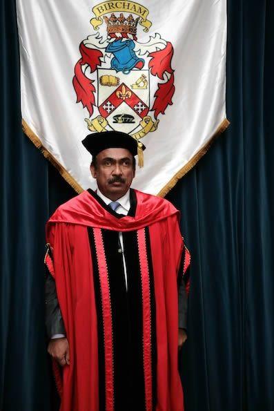 Abdul Qayeum Karim at the 2014 Madrid Graduation. Abdul Qayeum Karim, a proud BIU graduate.