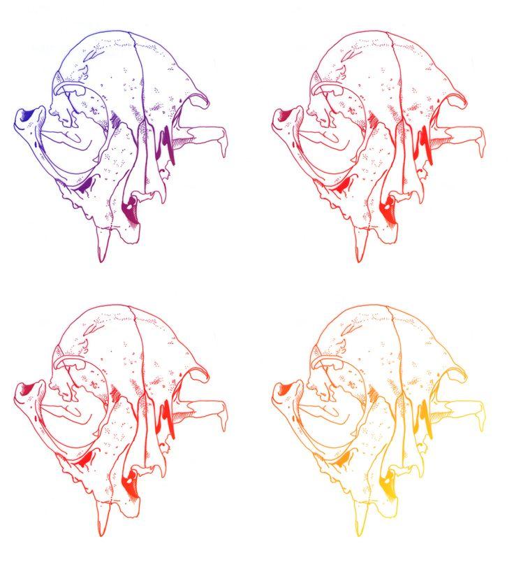 4 Skulls, por Raquel Botelho t-shirt http://www.vandal.com.br/p/692