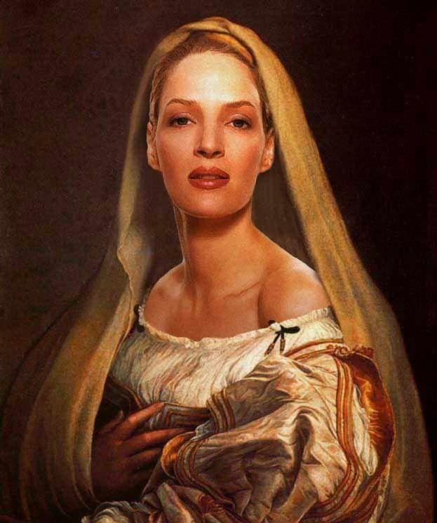 Uma Thurman. | 35 Celebrities As Classic Paintings