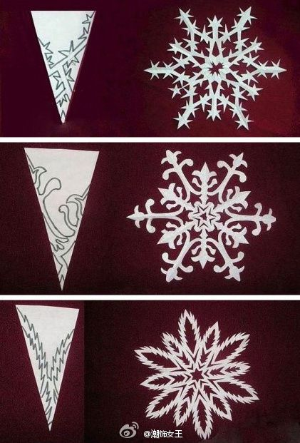 Snowflake patternsPaper Cut, Ideas, Snowflakes Templates, Christmas Crafts, White Christmas, Paper Snowflakes, Diy, Holiday Decor, Snowflakes Pattern