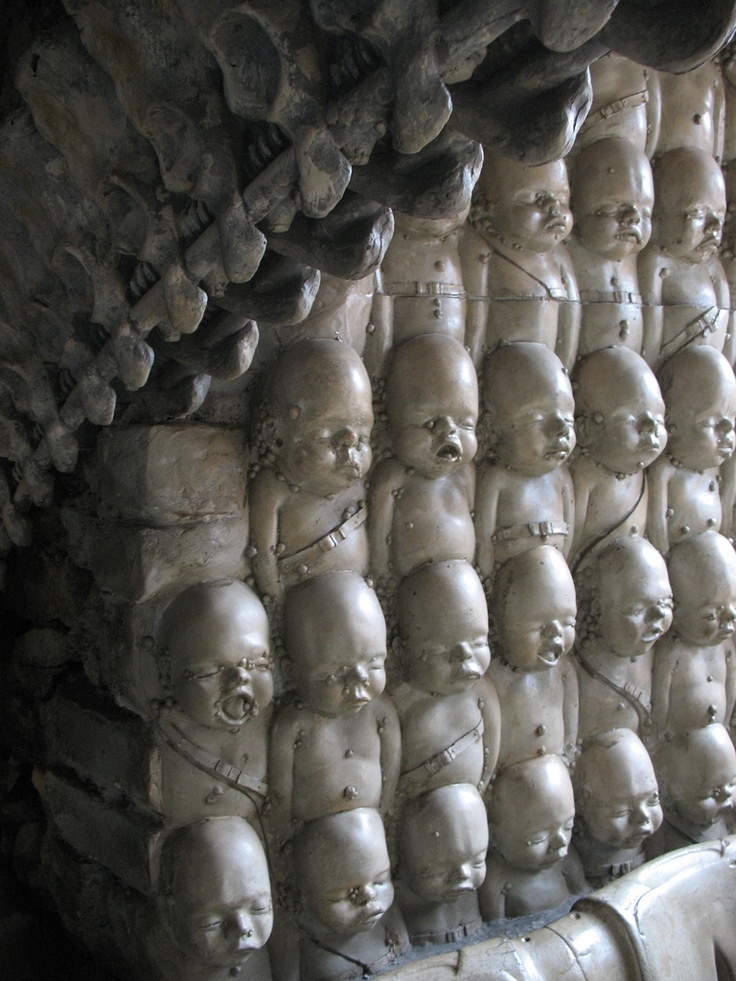 The Museum HR Giger Bar, located in Château St. Germain, Gruyères, Switzerland