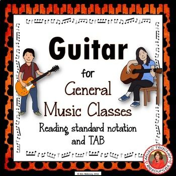 GUITAR in the CLASSROOM: Melody Do you have a middle school guitar class? I combined the best of the resources I have used over the years, with my Grade 7-10 guitar classes into this resource! I created these resources for my classes because students of this age don't want to be playing nursery rhymes. To PREVIEW pages from this resource CLICK HERE Included in this 28 page file is:: ♫ Facts about the guitar...