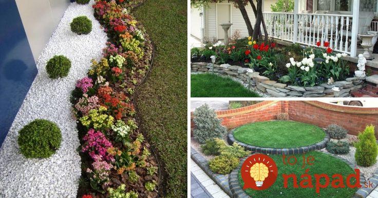 Dnes vám prinášame 35 krásnych nápadov, ako z predzáhradky vyčarovať najkrajší kút na pozemku. Často k tomu postačia len obyčajné kvety, kamienky a tráva.