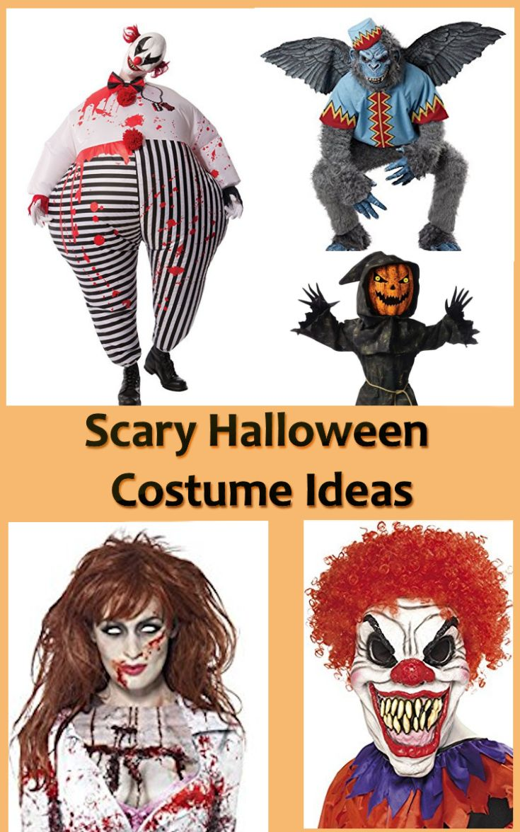 What kind of Scary Halloween Costume Ideas are you looking for? Clowns are always a good bet, especially if they are combined with a mask that is part clown and part monster. Ghosts, skeletons, zombies and mummies are also good costume selections. A witch and the Grim Reaper are also popular choices. Perhaps you just want to go with a really gruesome mask and make the rest of the costume yourself. There are all kinds of life-like zombie, monster, scarecrow, clown and ghost masks