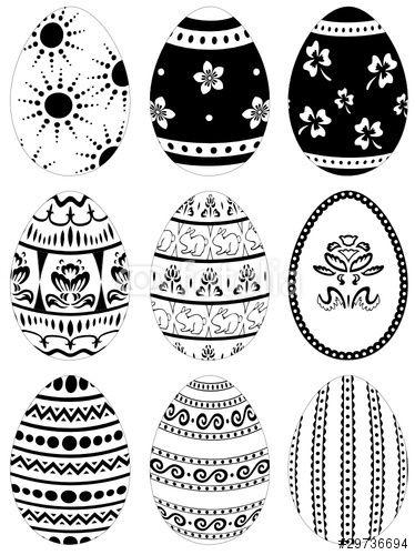 Vektor: Ostern, Ostereier, Osterei, Ei, Eier, Frühling
