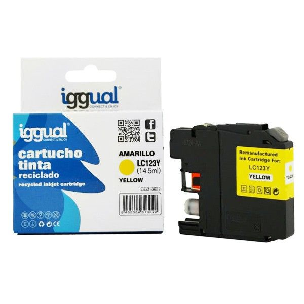 iggual Recycled Ink Cartridge Brother B-123Y yellow2,98 €