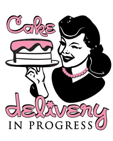Quot Cake Delivery In Progress Quot Car Magnet Lady Ss
