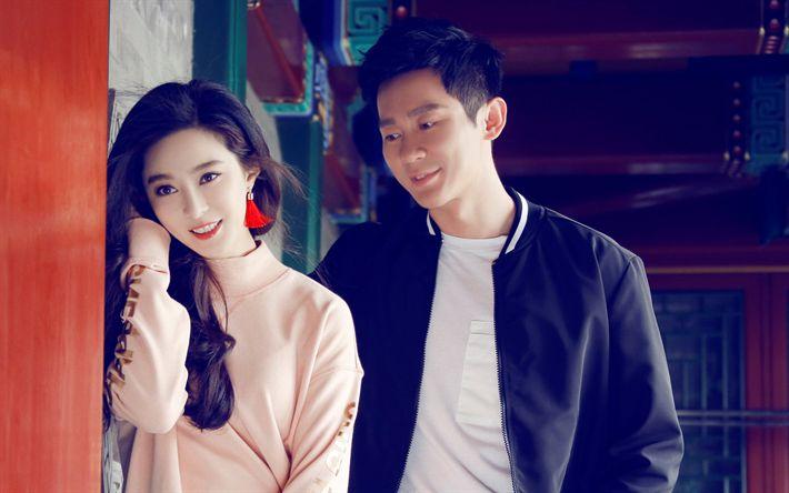 Descargar fondos de pantalla Fan Bingbing Li Chen, chino actriz, actor, celebridad