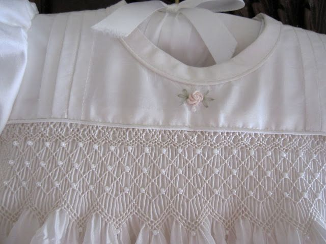 Simple white smocked dress