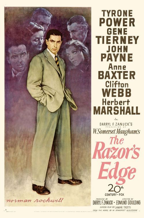 The Razor's Edge (1946). Really weird, and kind of pretentious. One of those cases where I get the feeling the book was a lot better.