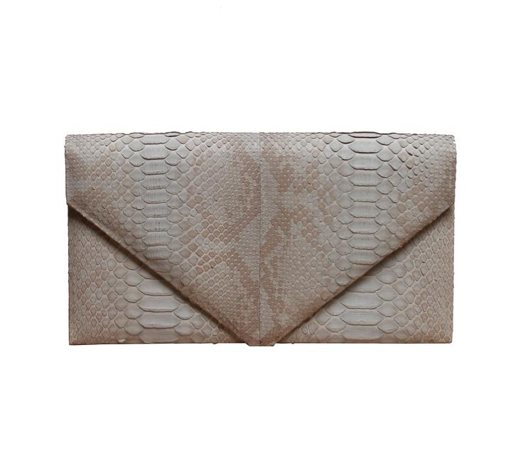Hunting Season SemiGrey Python Envelope Clutch