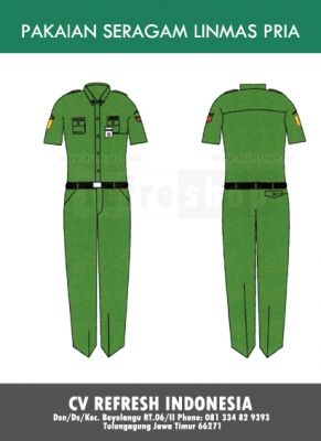Sedangkan baju linmas ini adalah untuk pria yang berlengan pendek. Masih sama dengan yang berlengan panjang, potongan khusus juga akan di berikan untuk pembelian baju ini dalam jumlah besar ataupun grosir.