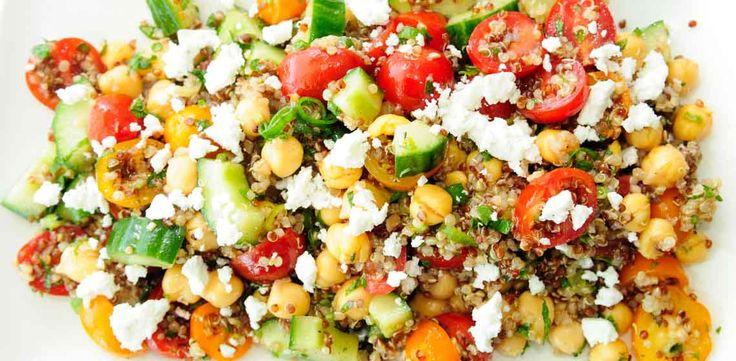 Quinoa, Chickpea, Cucumber and Feta Salad