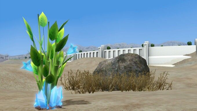 Blue Crystal plant on The Sims 3 Into the Future