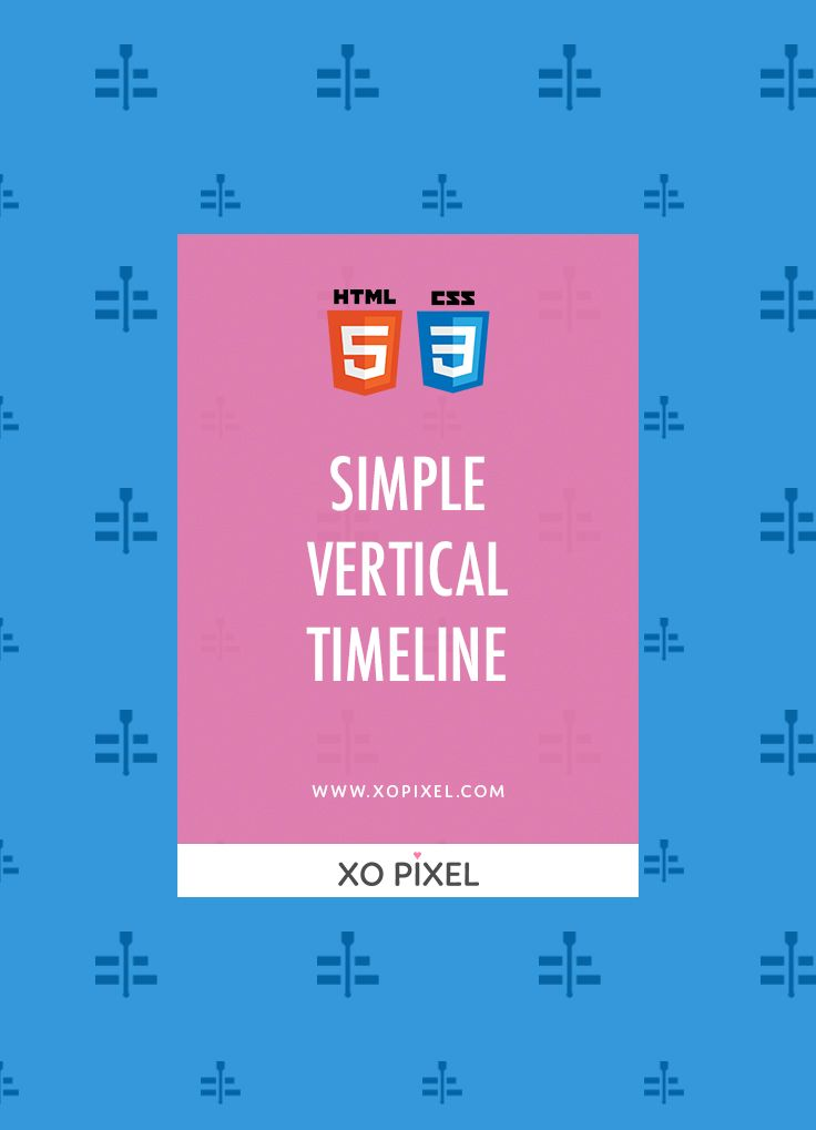 Hey, Pixels! In this week's coding tutorial, I'll be showing you how to create this simple vertical timeline. This timeline incorporates SVG images and cool CSS tricks!