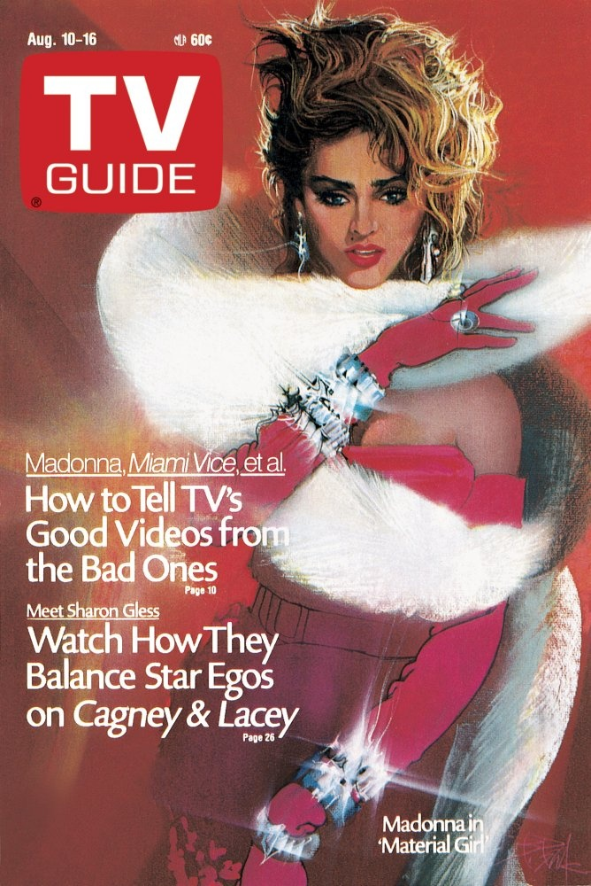 Madonna on the cover of TV Guide - August 10, 1985