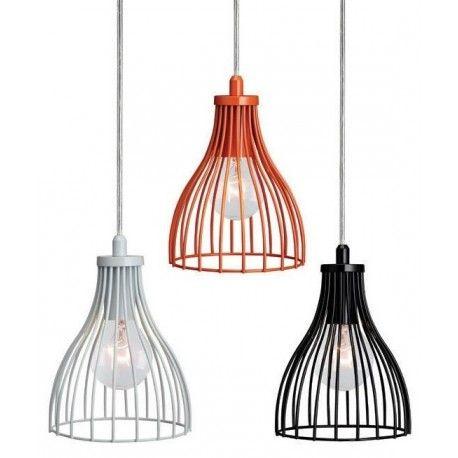 Kolorowe lampy Bari - doskonale prezentują się w grupie lamp. http://blowupdesign.pl/pl/35-lampy-klatki-metalowe-loft-design #lampywiszące #lampzklatką #lampykuchenne #oświetleniesypialni #ceglamps #modernlighting