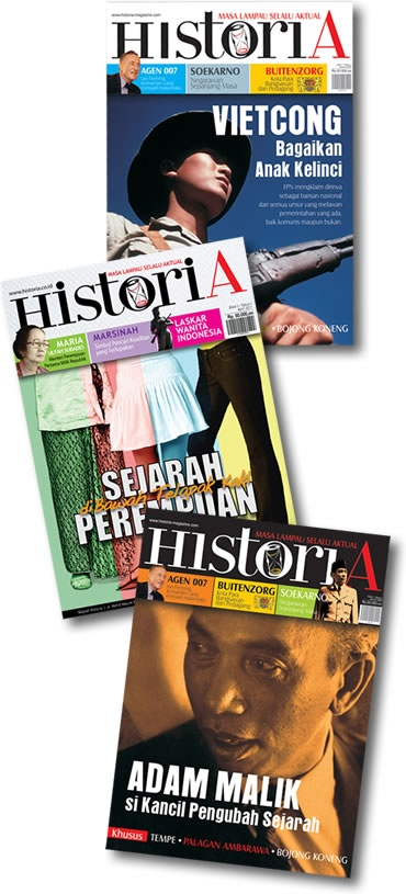 Historia is the first of the history magazine in Indonesia which is popularly presented. We combine journalistic work discipline with rigorous historical research to present the story of the past in a compelling and impressive in front of the reader.    ( http://historia.co.id )  ..