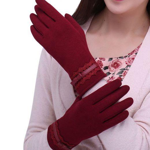 Kvalitné dámske bavlnené rukavice na mobilný telefón