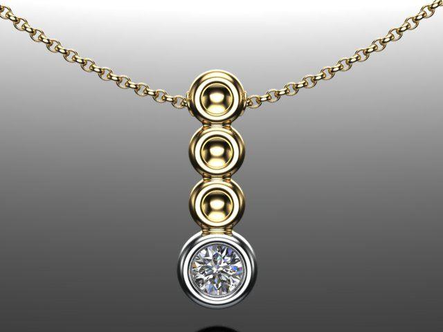 Diamond pendant designed and made by Martin Gotrel