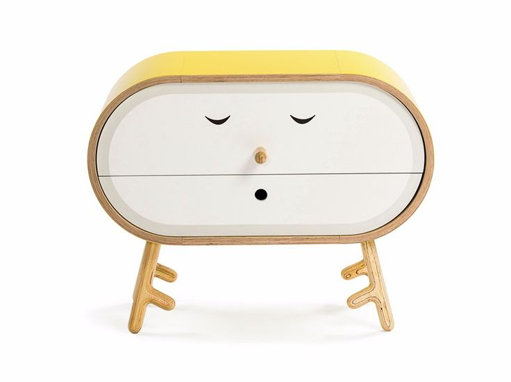 Free standing wooden chest of drawers LOLO KETTLE LoLo Collection by lllooch