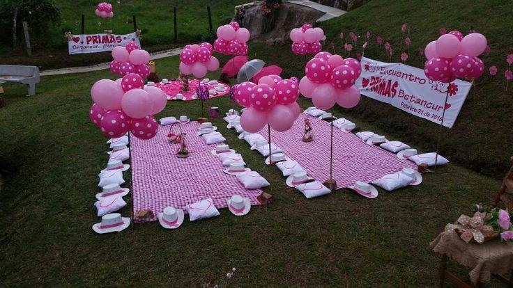 picnic party pink decoration ideas