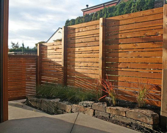 Wooden Fence Designs Ideas this mixed wood design is sleek and stylish 25 Beautiful Fence Designs To Improve And Accentuate Yard Landscaping Ideas
