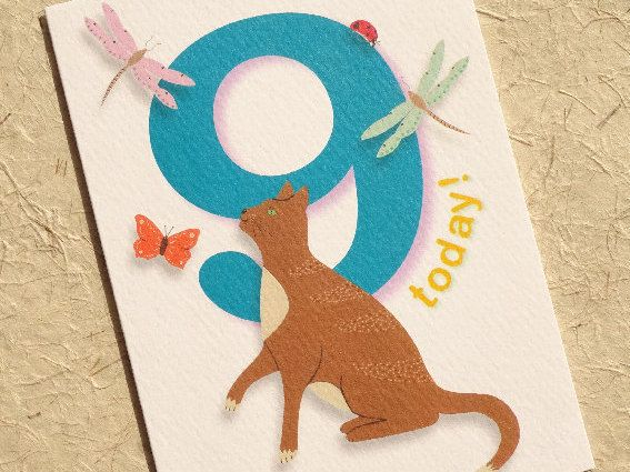 #Birthday Beasties from Luck & Judgement is a whimsical range of childishly innocent birthday cards featuring bright, bold numbers and a cast of cute and cheeky animals. Pac... #birthday #nine