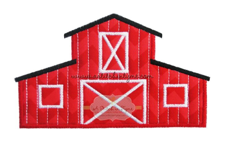 Gold - Barn Applique by A Stitch in Tyme - The Applique Circle