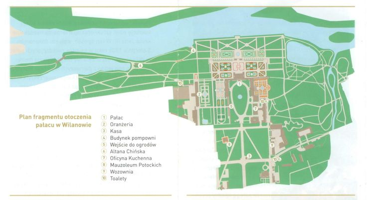 Map of Wilanów gardens.
