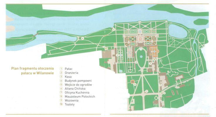 Map of Wilanów gardens.