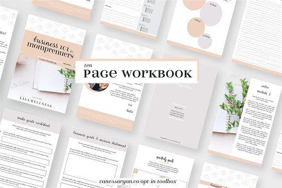 Momprenuer Workbook Indesign Canva by VanessaRyan.co on @creativemarket